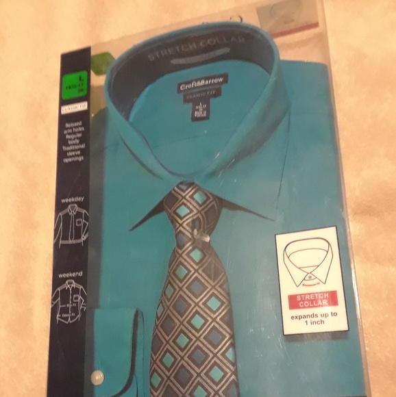 teal shirt and tie combo